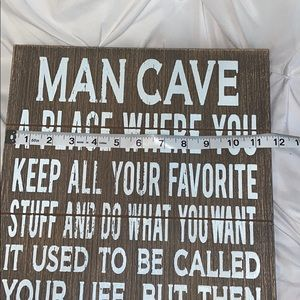 Hobby Lobby Accents - Man Cave Married Sign New Unused